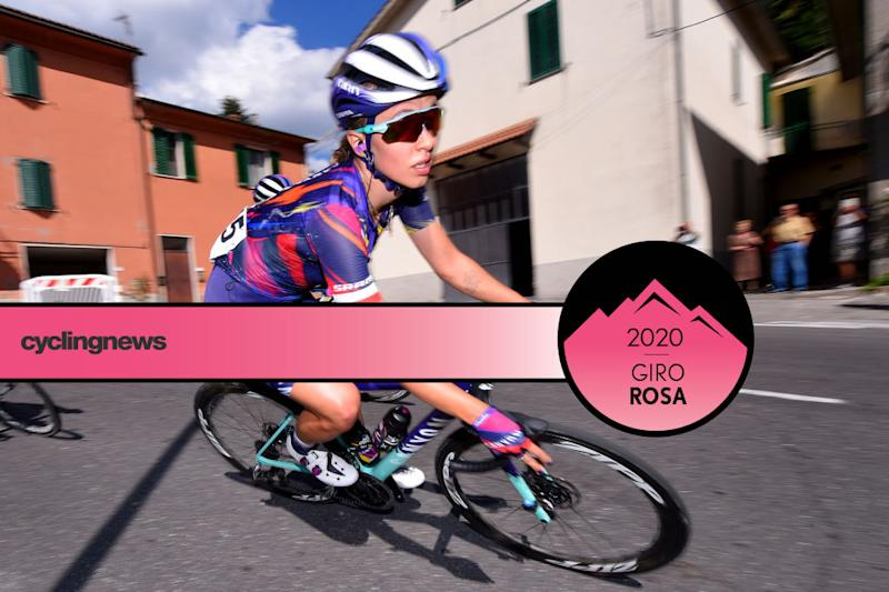 Canyon-SRAM's Katarzyna Niewiadoma will wear the pink leader's jersey on stage 8 of the 2020 Giro Rosa following the withdrawal of race leader Annemiek Van Vleuten due to a broken wrist
