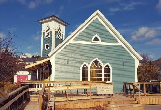 Holy Whale's Alma location is in a renovated church just outside of Fundy National Park.