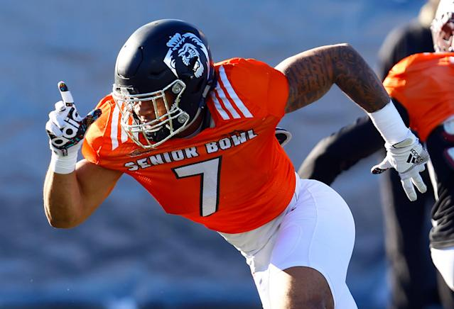 Old Dominion's Oshane Ximines had a solid performance at the Senior Bowl (AP)