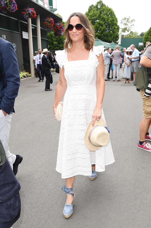 """<p>While speculation is swirling over whether or not <a rel=""""nofollow"""" href=""""https://www.yahoo.com/lifestyle/tagged/kate-middleton"""">Kate Middleton</a> will interrupt her maternity leave to make an appearance at Wimbledon, her younger siblings are already making the scene at Britain's famous tennis competition. Photo: Getty </p>"""