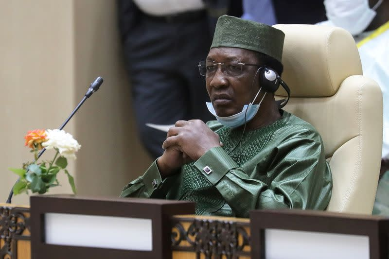 FILE PHOTO: Chad President Idriss Deby at the G5 Sahel summit in Nouakchott, Mauritania