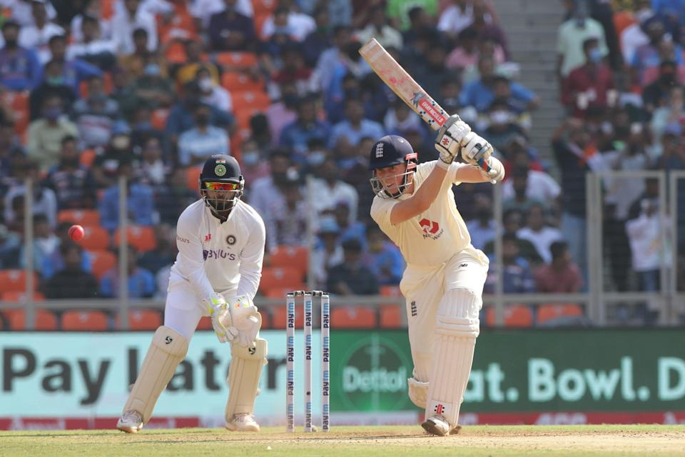 Zak Crawley of England  plays a shot during day one of the third test (BCCI)