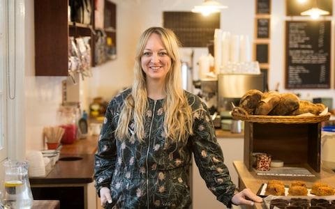 Claire Ptak, owner of Violet Bakery in Hackney, east London - Credit: PA
