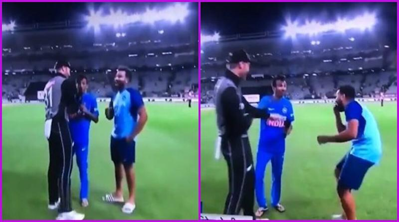 Yuzvendra Chahal Meets Martin Guptill, Asks Kiwi Batsman to Repeat 'Ga**u' Word, Watch Video