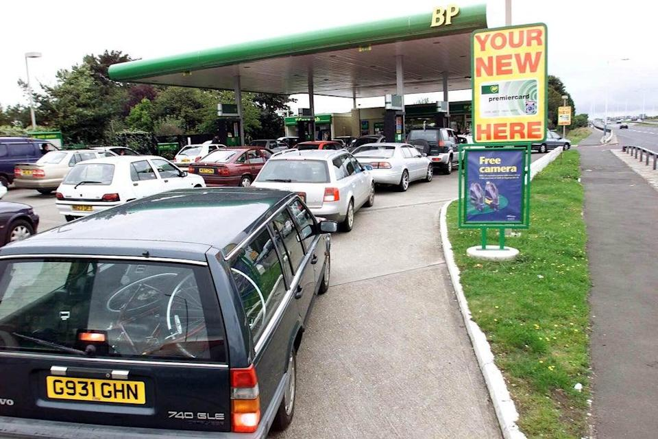 Shoppers have cut back on trips to the supermarket to save petrol amid Britain's fuel crisis, new figures show (Owen Humphreys/PA) (PA Archive)