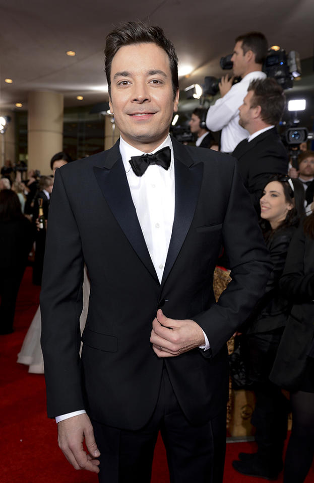 Jimmy Fallon attends Moet & Chandon At The 70th Annual Golden Globe Awards Red Carpet at The Beverly Hilton Hotel on January 13, 2013 in Beverly Hills, California.  (Photo by Michael Kovac/Getty Images for Moet)