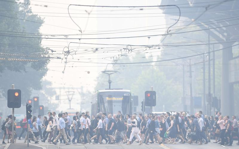 Air quality inMelbourne, Australia's second-biggest city, dropped to the