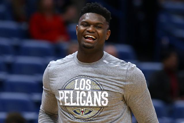 Zion Williamson is a game-time decision for the Pelicans. (Photo by Jonathan Bachman/Getty Images)