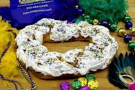 """<p>You'll find during your king cake search that there are many bakeries bearing the Randazzo name—all serving different versions of the iconic Mardi Gras treat. This one is a local favorite: With its cream cheese frosting, it essentially tastes like a massive Cinnabon cinnamon roll. Plus, the feel good component—the bakery sends a bunch of cakes to overseas troops ever year—doesn't hurt.</p><p><a class=""""link rapid-noclick-resp"""" href=""""https://www.kingcakes.com/king-cake-shipping/"""" rel=""""nofollow noopener"""" target=""""_blank"""" data-ylk=""""slk:ORDER TODAY"""">ORDER TODAY</a></p>"""