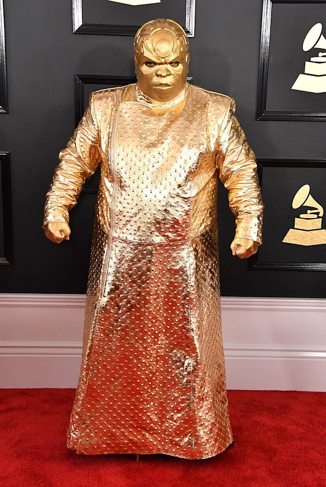 <p>Cee Lo Green's alter ego is known as Gnarly Davidson. The new persona was seemingly inspired by Ferrero Rocher chocolates or Star Wars. (Photo: Getty Images) </p>