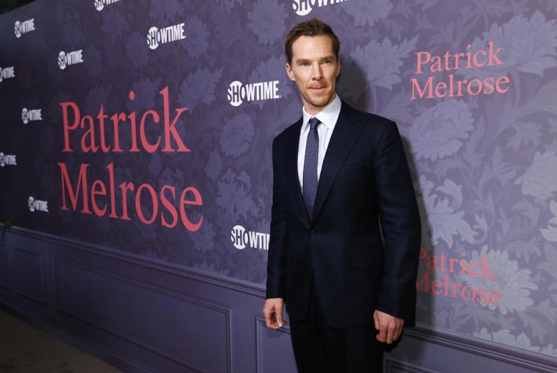 Cast member Benedict Cumberbatch poses at the premiere of the television series 'Patrick Melrose' in Los Angeles April 25, 2018. — Reuters pic