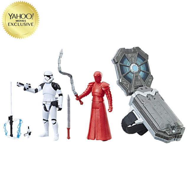 "<p>Includes Elite Praetorian Guard and First Order Stormtrooper Executioner; Force Link accessory activates light and sound effects and phrases from <em>The Last Jedi</em> and works with other Force Link figures, vehicles, and playsets. $34.99/Toys ""R"" Us exclusive (Photo: Hasbro) </p>"