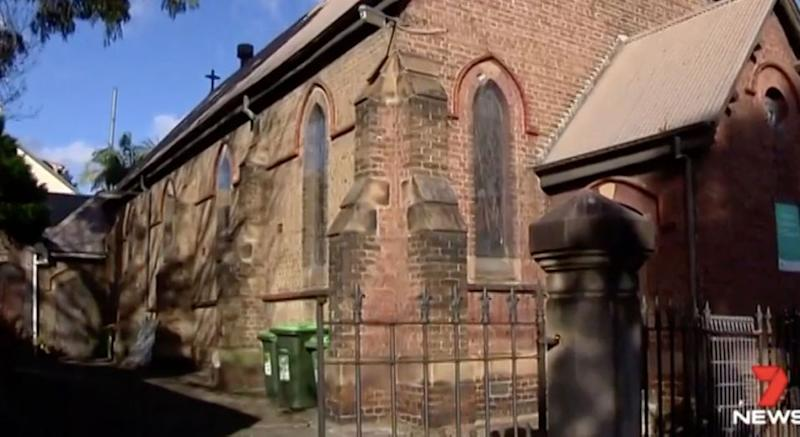 Erskineville Anglican Church will ban yoga from the end of June. Photo: 7 News
