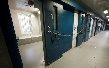 FILE PHOTO: Segregation cells are seen at the Kingston Penitentiary in Kingston, Ontario, Canada October 11, 2013.  REUTERS/Fred Thornhill/File Photo