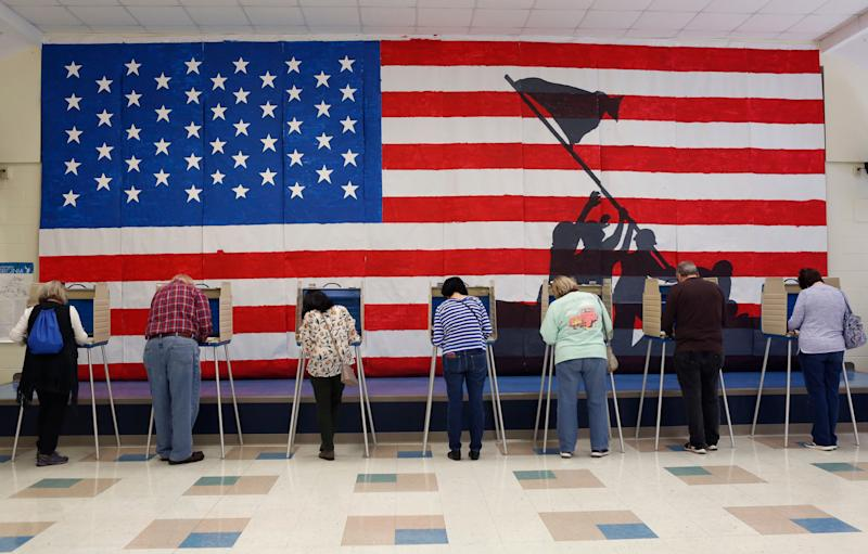 Voters cast their ballots at Robious Elementary School Tuesday, November 5, 2019 in Chesterfield County, Va. (Photo: The Washington Post via Getty Images)