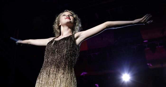 "Country music singer Taylor Swift performs during the Singapore leg of her ""Speak Now"" concert tour February 9, 2011."