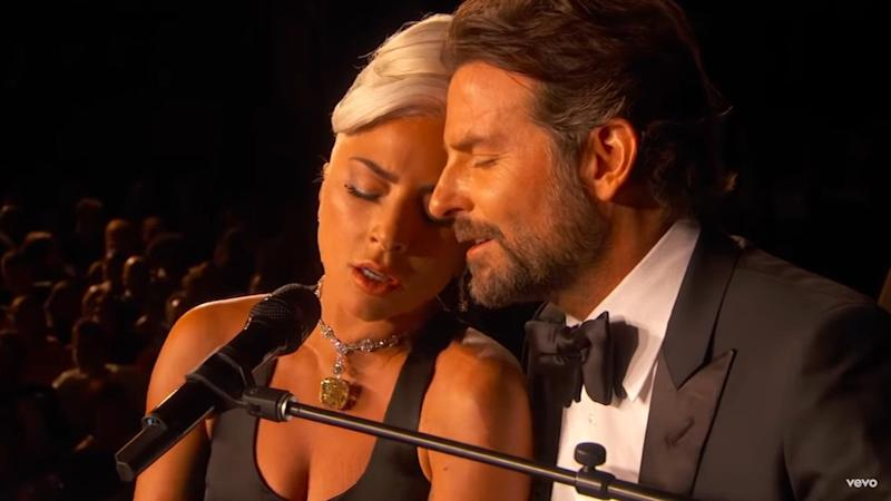 Bradley Cooper and Lady Gaga fuelled romance rumours with an intimate performance of 'A Star is Born' track 'Shallow' at the Oscars 2019 (YouTube)