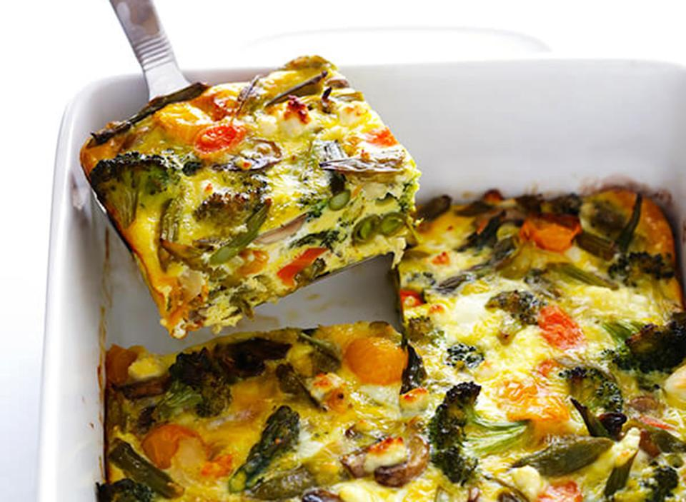 spring vegetable egg casserole