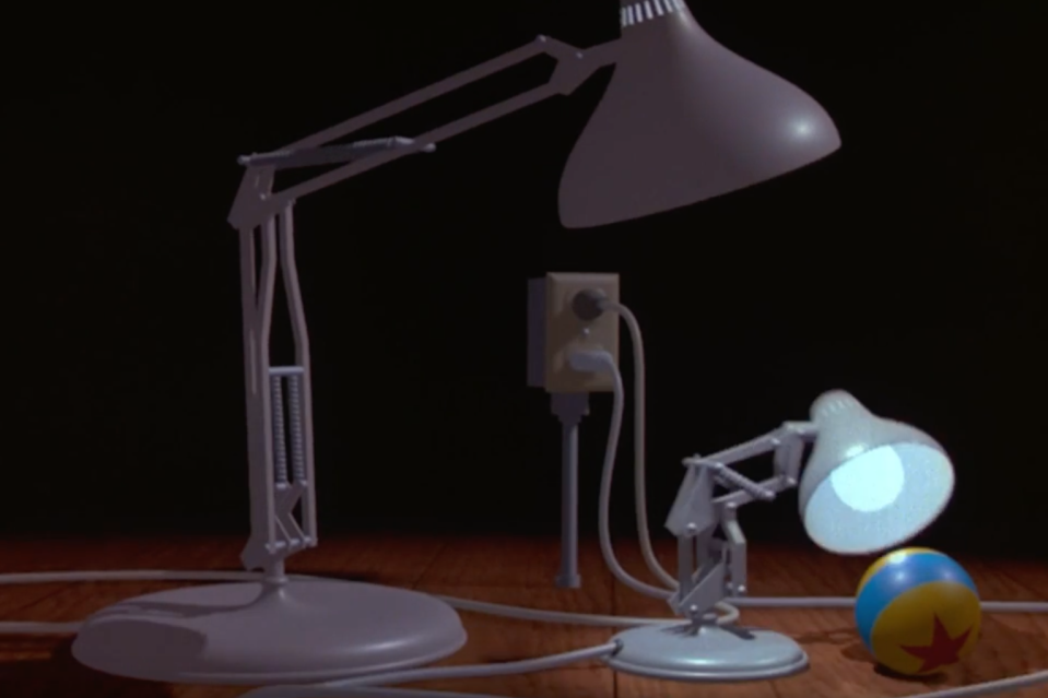 The Luxo ball in its original appearance, in the short <i>Luxo Jr.</i> (Image: Pixar)