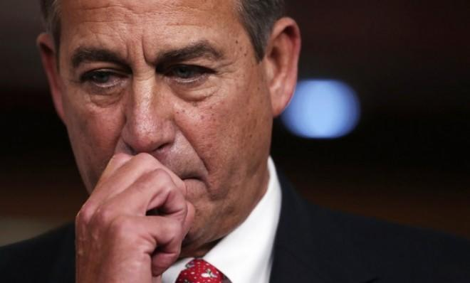 Boehner during a press conference at the U.S. Capitol on Dec. 21.