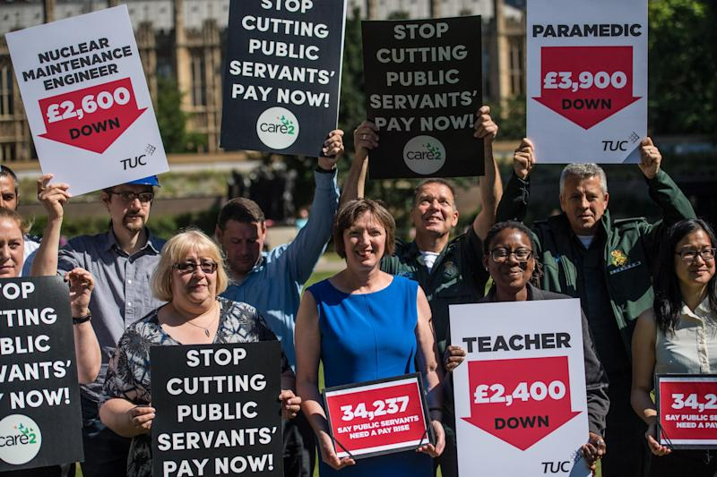 Research by Unison suggests public sector staff are working more than 40 million hours of unpaid overtime a year as workers face 'intolerable' pressures due to cutbacks: Getty