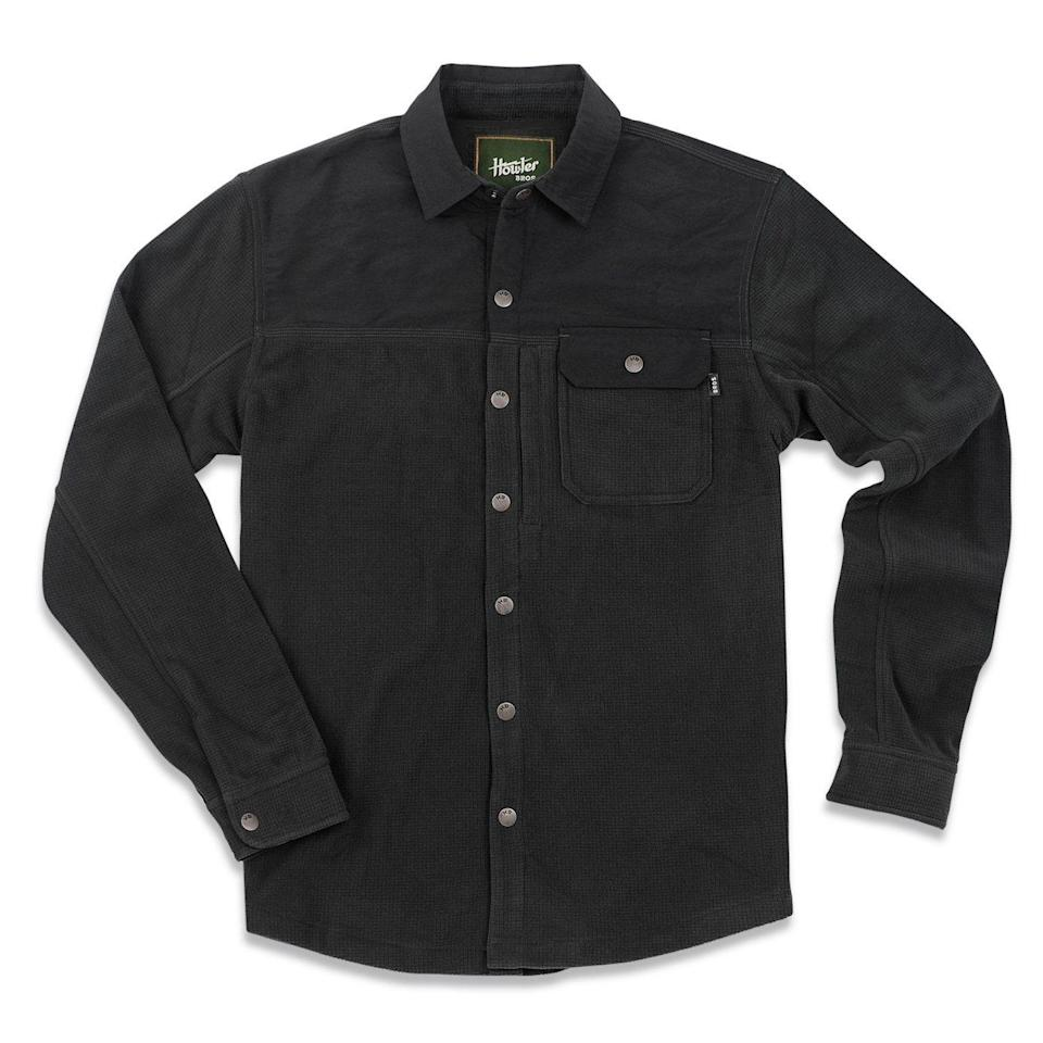 """<p><strong>Howler Brothers</strong></p><p>huckberry.com</p><p><strong>$125.00</strong></p><p><a href=""""https://go.redirectingat.com?id=74968X1596630&url=https%3A%2F%2Fhuckberry.com%2Fstore%2Fhowler-brothers%2Fcategory%2Fp%2F63740-vapors-polarfleece-shirt&sref=https%3A%2F%2Fwww.esquire.com%2Fstyle%2Fmens-fashion%2Fg34487003%2Fhuckberry-fall-mens-essentials%2F"""" rel=""""nofollow noopener"""" target=""""_blank"""" data-ylk=""""slk:Buy"""" class=""""link rapid-noclick-resp"""">Buy</a></p><p>A <a href=""""https://www.esquire.com/style/mens-fashion/g29654908/how-to-wear-shacket-shirt-jacket/"""" rel=""""nofollow noopener"""" target=""""_blank"""" data-ylk=""""slk:shirt/jacket"""" class=""""link rapid-noclick-resp"""">shirt/jacket</a> hybrid that gets the job done in style. </p>"""