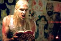 """<p>In case you haven't seen Rob Zombie's 2003 movie, Otis B. Driftwood from <strong>House of 1,000 Corpses</strong> is disturbing beyond all hell. Like Gein, the psychotic character in the film skins his victims and uses their bodies to create art, most notably costumes to wear. </p> <p><a href=""""https://www.amazon.com/House-000-Corpses-Sid-Haig/dp/B003BRMPPM/ref=sr_1_2?dchild=1&amp;keywords=House+of+1000+Corpses&amp;qid=1597681130&amp;sr=8-2"""" class=""""link rapid-noclick-resp"""" rel=""""nofollow noopener"""" target=""""_blank"""" data-ylk=""""slk:Watch House of 1,000 Corpses on Amazon Prime now"""">Watch <b>House of 1,000 Corpses</b> on Amazon Prime now</a>.</p>"""