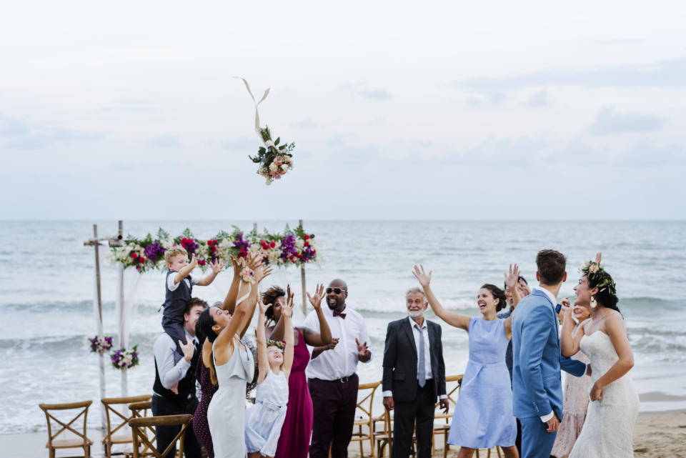 Experts expect smaller wedding to say even after restrictions are lifted. (Getty Images)