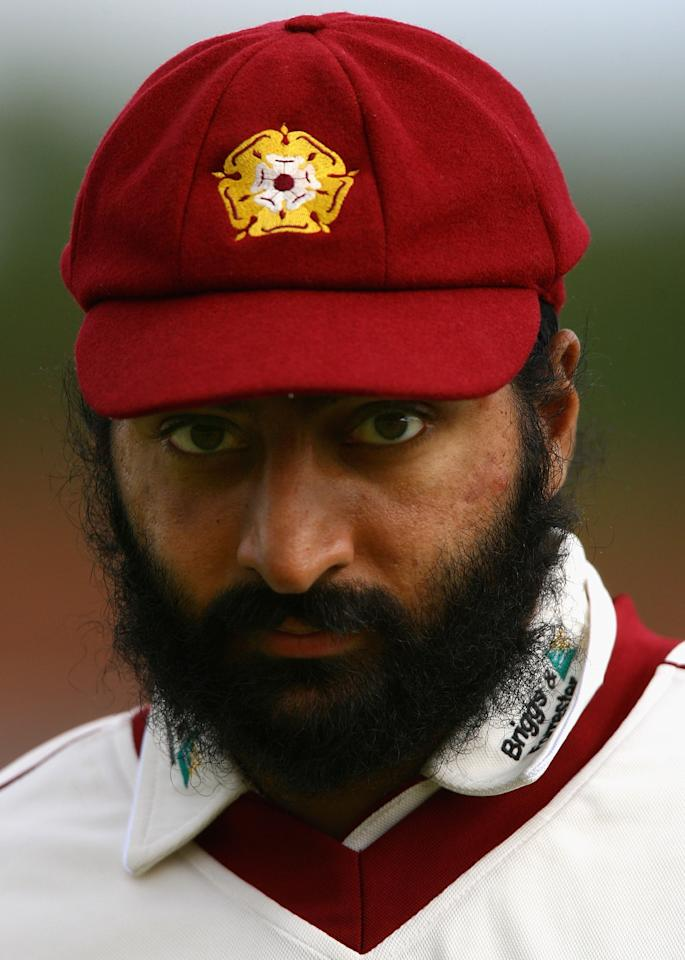 NORTHAMPTON, UNITED KINGDOM - MAY 08:  Monty Panesar of Northamptonshire looks on form the field  during day one of the LV County Championship match between Northamptonshire and Somerset at The County Ground on May 8, 2007 in Northampton, England.  (Photo by Ryan Pierse/Getty Images)