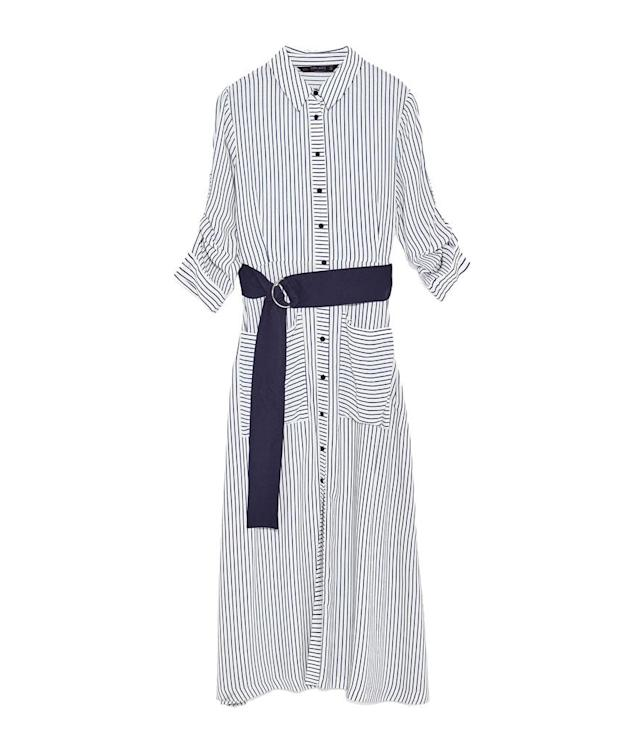 "<p>Long Striped Tunic, $70, <a href=""https://www.zara.com/us/en/collection-aw-17/woman/dresses/long-striped-tunic-c269185p4913245.html"" rel=""nofollow noopener"" target=""_blank"" data-ylk=""slk:zara.com"" class=""link rapid-noclick-resp"">zara.com</a> </p>"