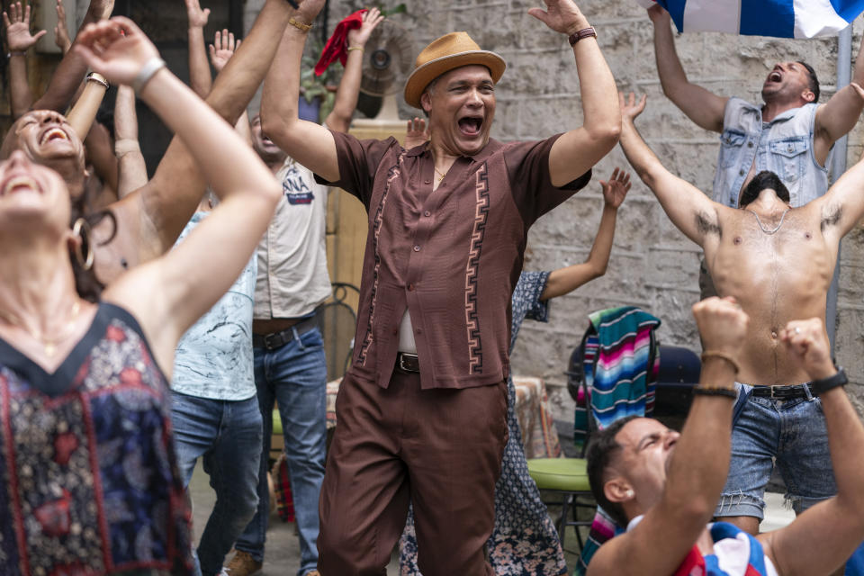 """This image released by Warner Bros. Entertainment shows Jimmy Smits in a scene from """"In the Heights."""" (Macall Polay/Warner Bros. Entertainment via AP)"""