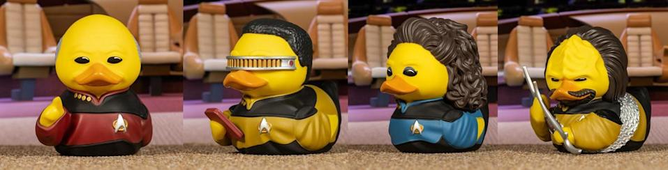 The crew of the Enterprise-D as rubber duckies from TUBBZ.
