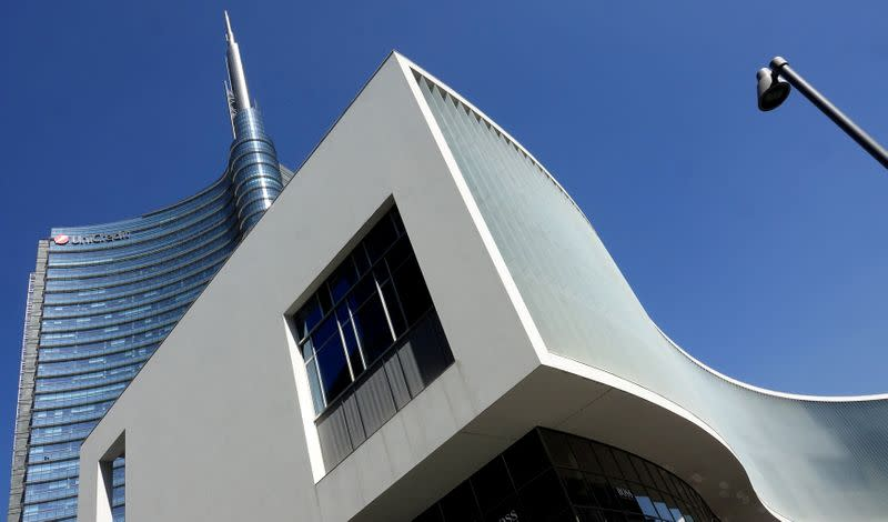 FILE PHOTO: The Unicredit bank headquarters is seen in Milan