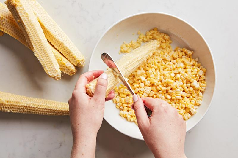 Fresh corn flavors every part of this icy, creamy dessert.