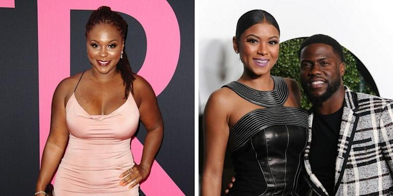 """Comedian <a href=""""https://www.huffingtonpost.com/topic/kevin-hart"""">Kevin Hart</a>'s current wife Eniko Hart and his ex-wife Torrei Hart got into a bit of a <a href=""""https://thegrapevine.theroot.com/kevin-harts-ex-wife-torrei-hart-and-his-rib-arent-on-sp-1798658354"""" target=""""_blank"""">social media scuffle</a>in August 2017, when someone on Instagram questioned the timeline of Eniko and Hart's romance.<br /><br />""""Their marriage was broken way before I came in the picture. They were separated, living in separate homes. I was never a secret. She knew that as well. Don't believe the hype,"""" <a href=""""https://thegrapevine.theroot.com/kevin-harts-ex-wife-torrei-hart-and-his-rib-arent-on-sp-1798658354"""" target=""""_blank"""">Eniko wrote</a>. <br /><br />Speaking <a href=""""http://www.tmz.com/2017/08/21/torrei-hart-kevin-cheating-eniko/"""" target=""""_blank"""">with TMZ</a>, Torrei brushed off the comments. <br /><br />""""Here's the thing. I mean, honestly, that's been so long ago. Like, why are we still trippin' on that?"""" <a href=""""http://www.tmz.com/2017/08/21/torrei-hart-kevin-cheating-eniko/"""" target=""""_blank"""">she said</a>. """"I'm happy. I'm out here, a successful businesswoman, launching my brands, doing what I need to do... I wish I had the time that she has to sit around and read comments all day long. I really do, but I don't."""""""
