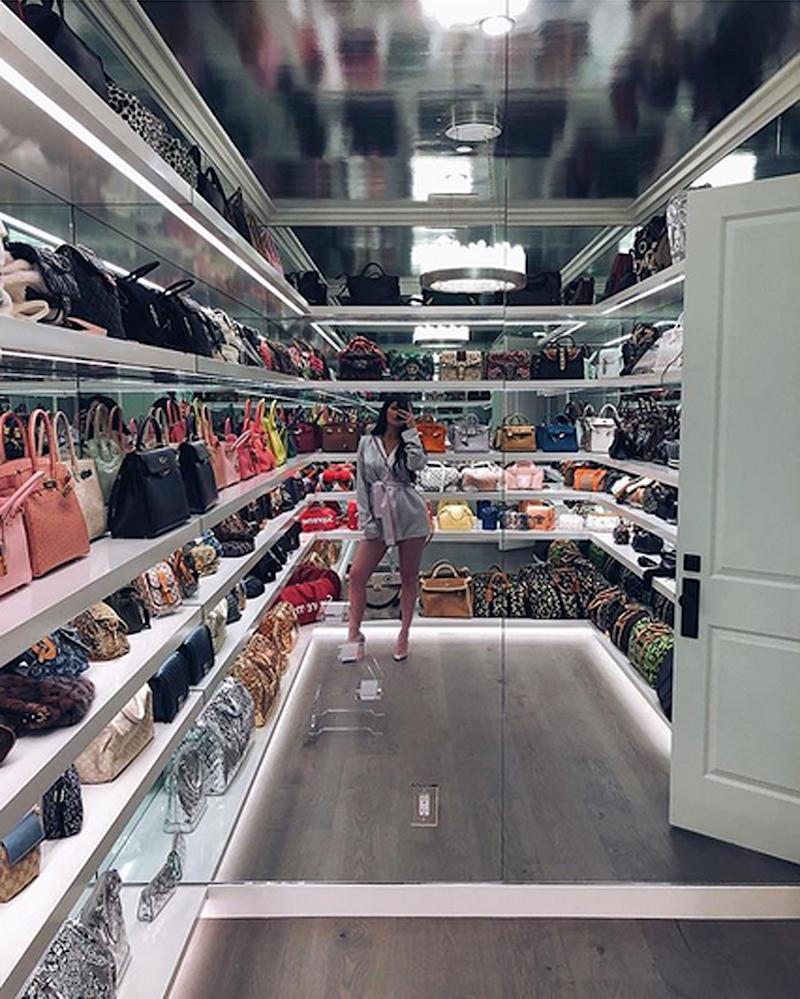Kylie Jenner S Purse Closet Holds Over 250 000 Worth Of Designer Handbags See For Yourself