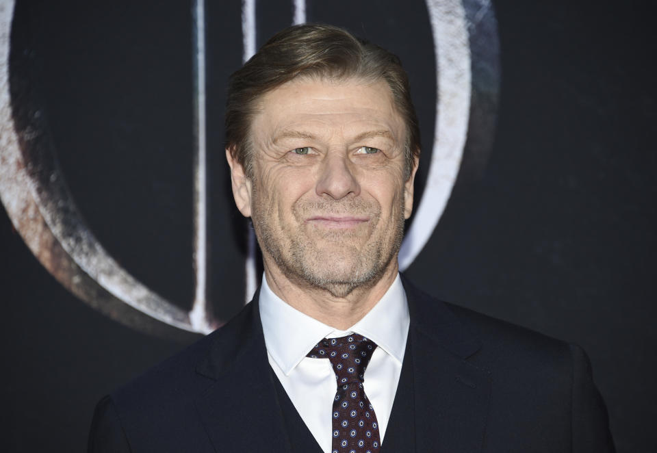 "Actor Sean Bean attends HBO's ""Game of Thrones"" final season premiere at Radio City Music Hall on Wednesday, April 3, 2019, in New York. (Photo by Evan Agostini/Invision/AP)"