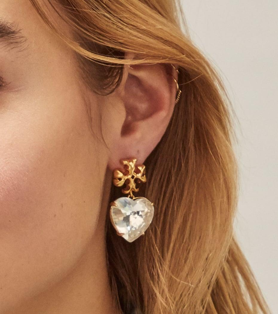 <p>These <span>Tory Burch Roxanne Heart Earrings</span> ($148) are so eye-catching and well-carved</p>