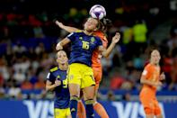 Julia Zigiotti of Sweden Women during the World Cup Women match between Holland v Sweden at the Stade de Lyon on July 3, 2019 in Lyon, France. (Photo by Rico Brouwer/Soccrates/Getty Images)