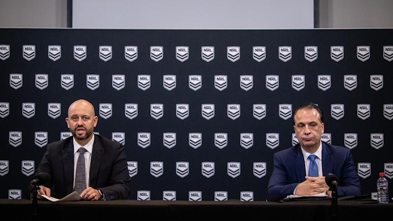 Todd Greenberg and Peter V'landys have announced the NRL's immediate shutdown