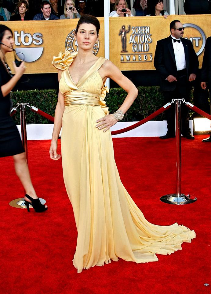 """<a href=""""/marisa-tomei/contributor/29689"""">Marisa Tomei</a> arrives at the <a href=""""/the-15th-annual-screen-actors-guild-awards/show/44244"""">15th Annual Screen Actors Guild Awards</a> held at the Shrine Auditorium on January 25, 2009 in Los Angeles, California."""