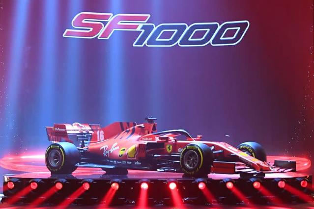 New Formula One race car presentation at the Romolo Valli Municipal Theatre in Reggio Emilia