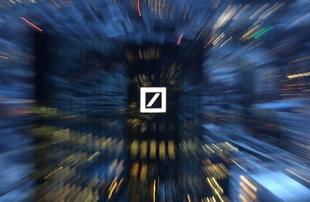 The head quarters of Germany's Deutsche Bank are photographed early evening in Frankfurt