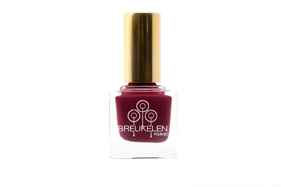 "<p>""I'm really into this color <a href=""https://www.bkpolished.com/shop/sweeterthejuice?utm_source=IGShopping&amp;utm_medium=Social"" class=""link rapid-noclick-resp"" rel=""nofollow noopener"" target=""_blank"" data-ylk=""slk:Sweeter the Juice"">Sweeter the Juice</a> from Breukelen Polished, a Black women-owned nail polish brand. I'm a Brooklyn girl and I love the fun Brooklynite references of all of her polishes. During the wintry months I love deep berries and cranberries and this one reminds me of that perfect color of cranberry sauce stain next to gravy."" - Nneya Richards, editor, shop</p>"