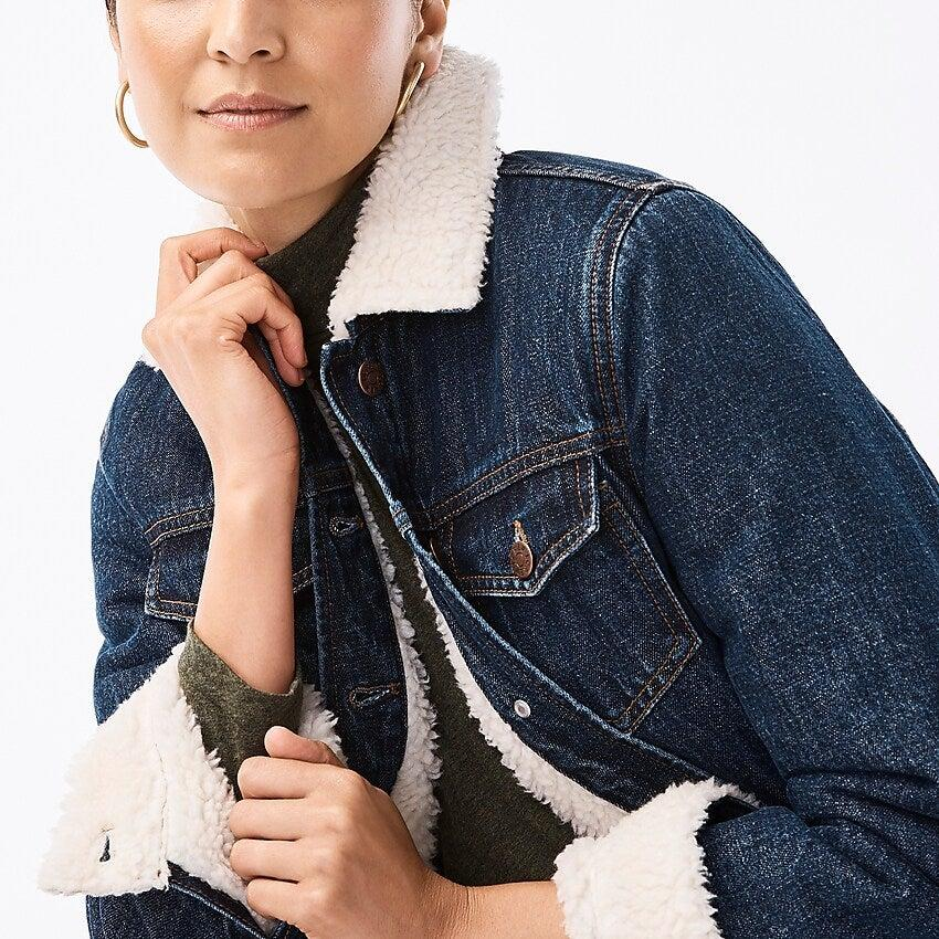 """<h3><a href=""""https://factory.jcrew.com/"""" rel=""""nofollow noopener"""" target=""""_blank"""" data-ylk=""""slk:J.Crew Factory"""" class=""""link rapid-noclick-resp"""">J.Crew Factory</a></h3><br><strong>Dates:</strong> Limited time<br><strong>Sale:</strong> Take <a href=""""https://factory.jcrew.com/r/shopall/women?intcmp=hero_1_w"""" rel=""""nofollow noopener"""" target=""""_blank"""" data-ylk=""""slk:60% off everything"""" class=""""link rapid-noclick-resp"""">60% off everything</a> — and we mean everything — on J.Crew's outlet site, plus an extra 60% off clearance items. Shipping is free for today only.<br><strong>Promo code:</strong> YAYDEALS<br><br><strong>J.Crew Factory</strong> Sherpa-Lined Denim Jacket, $, available at <a href=""""https://factory.jcrew.com/p/womens-clothing/coats_jackets/denim/sherpalined-denim-jacket/AB547"""" rel=""""nofollow noopener"""" target=""""_blank"""" data-ylk=""""slk:J.Crew Factory"""" class=""""link rapid-noclick-resp"""">J.Crew Factory</a>"""