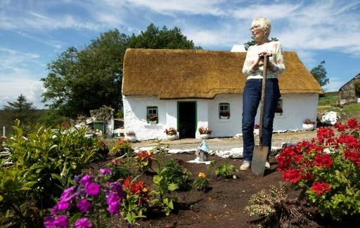 For all of her 77 years Gallagher has lived in a 200-year-old thatched cottage in Northern Ireland without running water, electricity or an indoor toilet