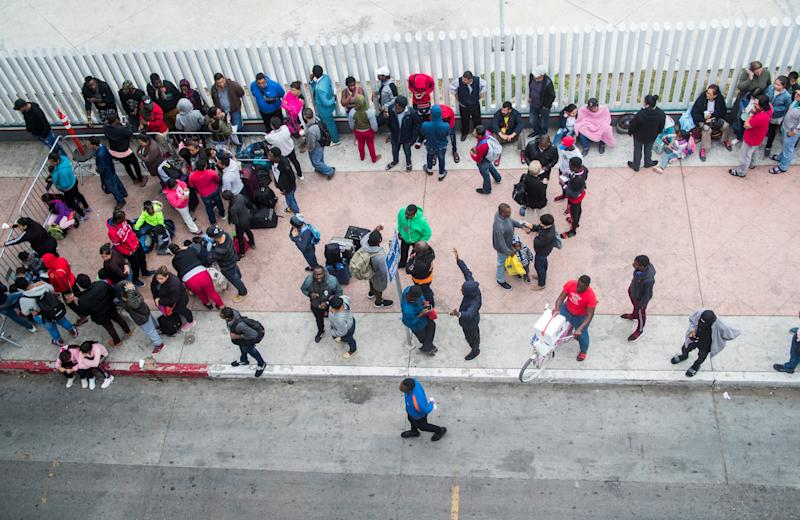 TIJUANA, Mexico – Hundreds of migrants make the daily ritual of visiting the El Chaparral port of entry in Tijuana, Mexico, to see which names will be called from a waiting list to petition for asylum in the United States. The migrants often wait weeks before their number is called.