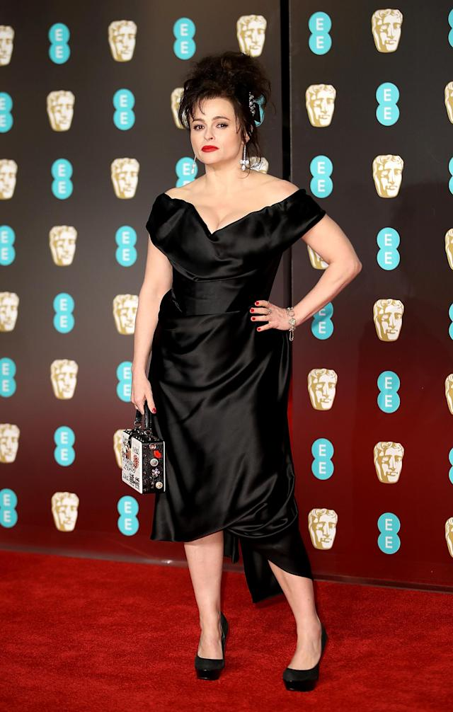 <p>The British actress wore a design by her go-to designer, Vivienne Westwood. <em>[Photo: Getty]</em> </p>
