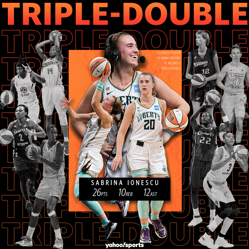 The New York Liberty's Sabrina Ionescu became the youngest player in WNBA history to record a triple-double with her 26 points, 10 rebounds and 12 assists on May 18 against the Minnesota Lynx.