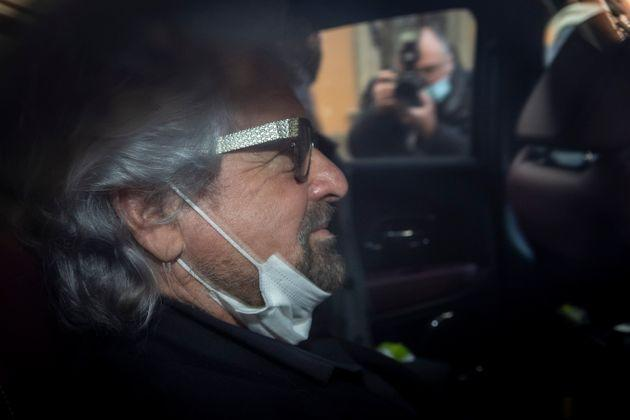 ROME, ITALY - FEBRUARY 6: Beppe Grillo, co-founder of the 5-Stars Movement leaves the Chamber of Deputies following a meeting with the designated Prime Minister Mario Draghi on formation of a new government at the Montecitorio palace, on February , 2021 in Rome, Italy. Designated Prime Minister Mario Draghi has formally accepted the mandate to form a new government following the resignation of Giuseppe Conte. (Photo Antonio Masiello/Getty Images) (Photo: Antonio Masiello via Getty Images)